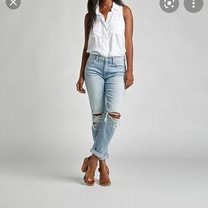 Silver not your boyfriend jeans